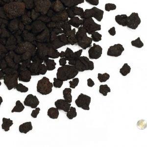 """1/2"""" - 1 1/2"""" Black Lava Rock Nugget"""