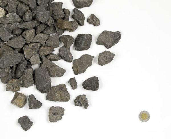 "decorative gravel - Midnight Limestone 2"""