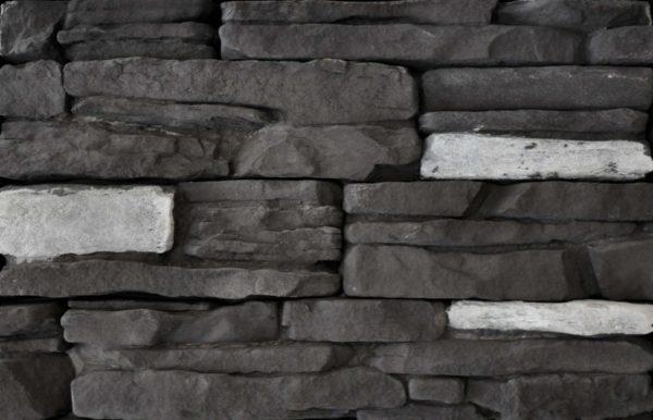 Black Rundle Rustic Ledgestone